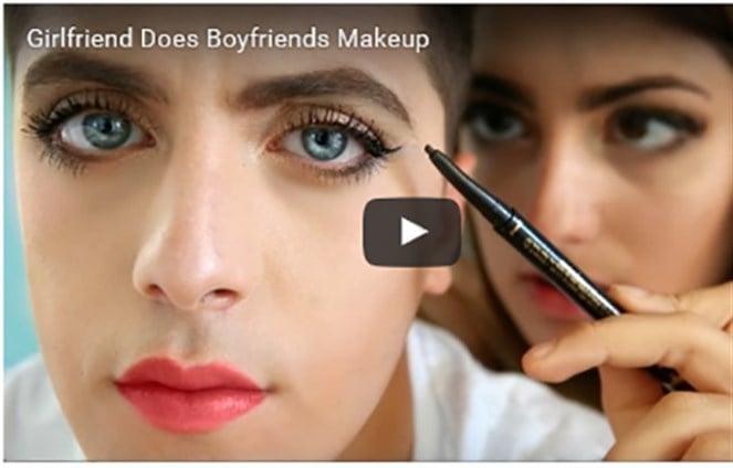 Девушке делают макияж фото