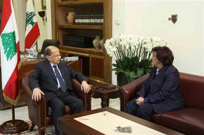 الرئيس عون يستقبل السيدة فاديا كيوان ممثلة فخامة الرئيس في المنظمة الفرنكوفونية