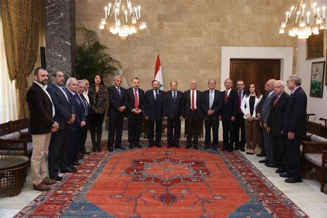 الرئيس عون استقبل الوزير السابق عصام نعمان على رأس وفد هيئة التنسيق الوطنيّة من أجل النسبيّة