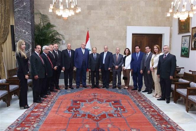 الرئيس عون التقى وفد حركة الناصريين المستقلين - المرابطون برئاسة العميد مصطفى حمدان