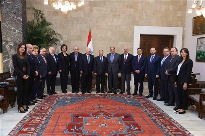 الرئيس عون التقى وفد المجلس التنفيذي للرابطة المارونيّة برئاسة النقيب أنطوان قليموس