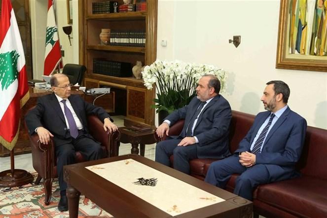 الرئيس عون التقى الامين العام للجماعة الاسلامية عزام الايوبي بحضور النائب عماد الحوت