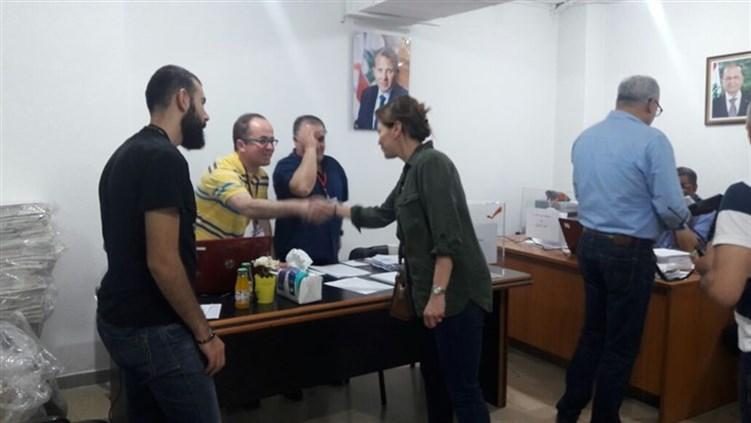وصول مستشارة الرئيس الاولى ميراي عون الهاشم إلى المقر العام للتيار الوطني الحر للمشاركة في المناورة الانتخابية